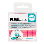 We R Memory Keepers - FUSEables Collection - Ruffle Tape - Raspberry
