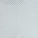 We R Memory Keepers - Clearly Posh Collection - 12 x 12 Acetate Paper with Foil Accents - Chevron Dot - Silver