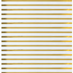 We R Memory Keepers - Clearly Posh Collection - 12 x 12 Acetate Paper with Foil Accents - Stripe - Gold