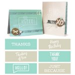 We R Memory Keepers - Embossing Strips - Phrases - Classic