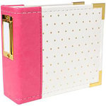 We R Memory Keepers - 4 x 4 - Instagram Albums - Strawberry With Gold Foil Dots