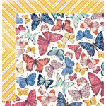 We R Memory Keepers - Wildflower Collection - 12 x 12 Double Sided Paper - Butterfly Garden
