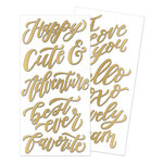 We R Memory Keepers - Wildflower Collection - Thickers - Words - Gold Foil