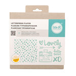 We R Memory Keepers - Amy Tangerine Collection - Letterpress - Printing Plate Set - Finders Keepers
