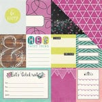 We R Memory Keepers - Hello Darling Collection - 12 x 12 Double Sided Paper - Noteworthy