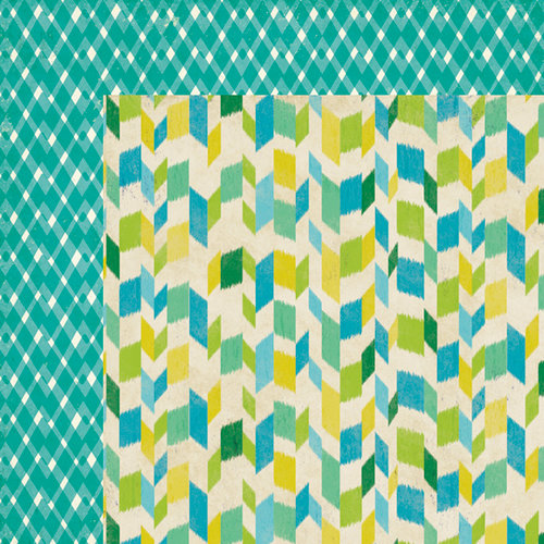 American Crafts - Crate Paper - On Trend Collection - 12 x 12 Double Sided Paper - Sensation