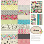American Crafts - Crate Paper - On Trend Collection - 12 x 12 Collection Kit