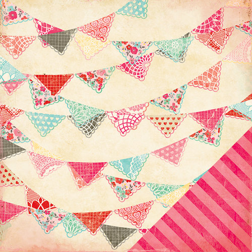 American Crafts - Crate Paper - Fourteen Collection - 12 x 12 Double Sided Paper - Crush