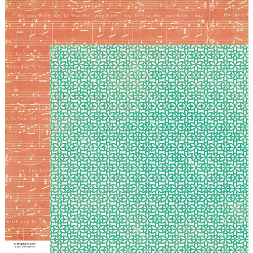 American Crafts - Crate Paper - Party Day Collection - 12 x 12 Double Sided Paper - Surprise