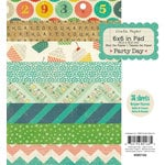 American Crafts - Crate Paper - Party Day Collection - 6 x 6 Paper Pad