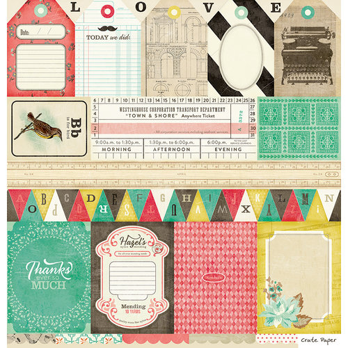 American Crafts - Crate Paper - DIY Shop Collection - 12 x 12 Cut Outs Paper - Borders