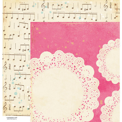 American Crafts - Crate Paper - Maggie Holmes Collection - 12 x 12 Double Sided Paper - Moments