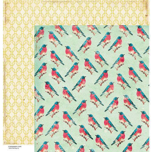 American Crafts - Crate Paper - Maggie Holmes Collection - 12 x 12 Double Sided Paper - Instafriends