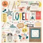 Crate Paper - Wonder Collection - 12 x 12 Chipboard Stickers with Foil Accents