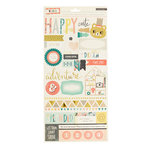 Crate Paper - Wonder Collection - Cardstock Stickers with Foil Accents - Journaling and Titles