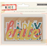 Crate Paper - Wonder Collection - Die Cut Cardstock Pieces - Phrases