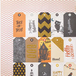 Crate Paper - After Dark Collection - Halloween - 12 x 12 Double Sided Paper with Glitter Accents - October