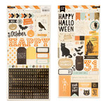 Crate Paper - After Dark Collection - Halloween - Cardstock Stickers with Foil Accents