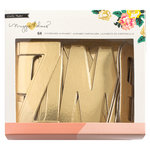 Crate Paper - Maggie Holmes Collection - Shine - Chipboard Letter with Foil Accents