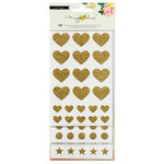 Crate Paper - Maggie Holmes Collection - Shine - Cardstock Stickers with Glitter Accents - Basics