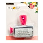 Crate Paper - Maggie Holmes Collection - Shine - Roller Phrases Stamp