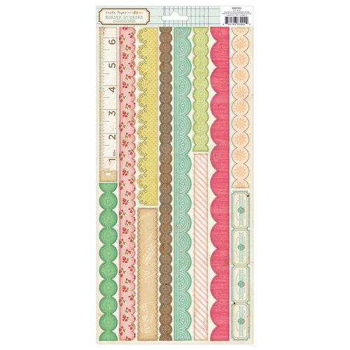 American Crafts - Crate Paper - Pretty Party Collection - Cardstock Stickers - Borders