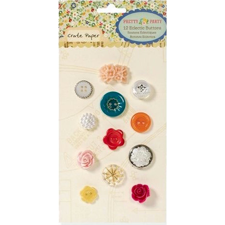 American Crafts - Crate Paper - Pretty Party Collection - Mixed Buttons