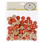 American Crafts - Crate Paper - Story Teller Collection - Wood Bingo Chips