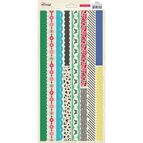 American Crafts - Crate Paper - On Trend Collection - Cardstock Stickers - Borders