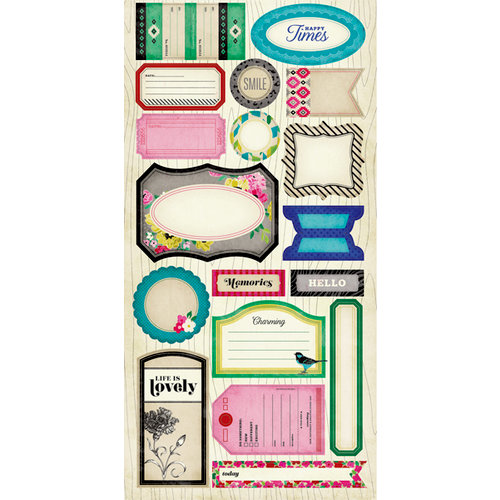 American Crafts - Crate Paper - On Trend Collection - Cardstock Stickers - Phrase