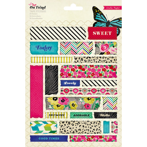 American Crafts - Crate Paper - On Trend Collection - Cardstock Stickers - Tape