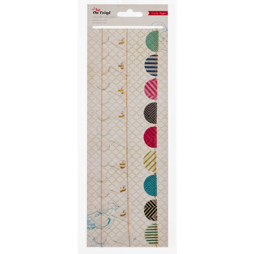 American Crafts - Crate Paper - On Trend Collection - Stitched Vellum Garland
