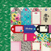 American Crafts - Crate Paper - Patterned Cloth Album - 12 x 12 D-Ring - Floral 2