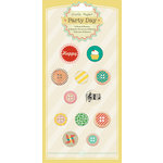 Crate Paper - Party Day Collection - Brads and Buttons