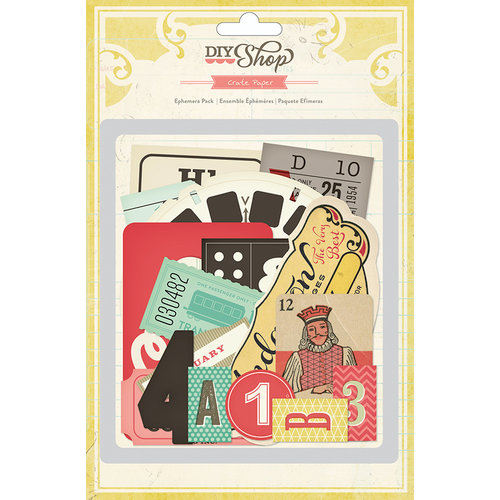 American Crafts - Crate Paper - DIY Shop Collection - Ephemera Pack