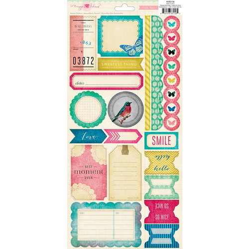 American Crafts - Crate Paper - Maggie Holmes Collection - Cardstock Stickers Labels and Borders