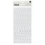 American Crafts - Crate Paper - Maggie Holmes Collection - Thickers - Glitter Foam - Rockabye - White