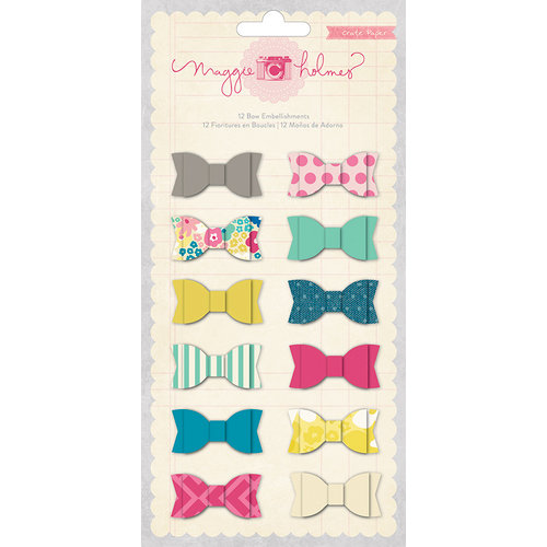 American Crafts - Crate Paper - Maggie Holmes Collection - Fabric Bows
