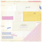Crate Paper - Notes and Things Collection - 12 x 12 Double Sided Paper - Enclosed