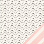 Crate Paper - Kiss Kiss Collection - 12 x 12 Double Sided Paper - Darling