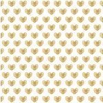 Crate Paper - Kiss Kiss Collection - 12 x 12 Vellum Paper - Gold Foil Hearts