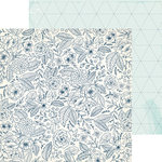 Crate Paper - Craft Market Collection - 12 x 12 Double Sided Paper - Stitching