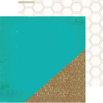 Crate Paper - Craft Market Collection - 12 x 12 Double Sided Paper with Glitter Accents - Sparkle