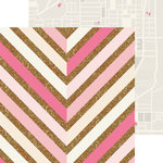 Crate Paper - Craft Market Collection - 12 x 12 Double Sided Paper with Glitter Accents - Pattern