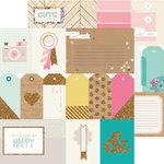 Crate Paper - Craft Market Collection - 12 x 12 Double Sided Paper with Glitter Accents - Project