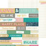 Crate Paper - Craft Market Collection - 12 x 12 Double Sided Paper with Foil Accents - Handbook