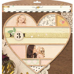 Crate Paper - Confetti Collection - 11 x 10 Wood Veneer Framework - Heart