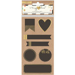 Crate Paper - Confetti Collection - Chalkboard Stickers - Labels With Gold