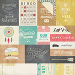 Crate Paper - Journey Collection - 12 x 12 Double Sided Paper - Let's Go