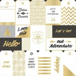 Crate Paper - Journey Collection - 12 x 12 Acetate Paper with Foil Accents - Tags